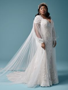 An elegant lace plus size sheath wedding dress for the romantic bride. Designed for you by Maggie Sottero, find it in a bridal store today! Maggie Sottero Wedding Dresses, Country Wedding Dresses, Bohemian Wedding Dresses, Wedding Dresses Plus Size, Princess Wedding Dresses, Colored Wedding Dresses, Plus Size Wedding, Dream Wedding Dresses, Bridal Dresses