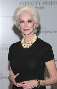 carmen dell'orefice - 81 year old top model.......still stunning- my idle.