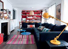 Un salon coloré et confortable