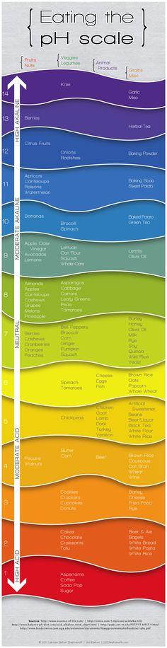 96 Best PH Scale images | Alkaline foods, Alkaline diet ...