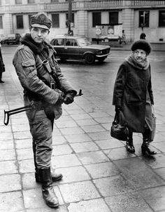 Martial law in the People's Republic of Poland. Polish People, Socialist State, Warsaw Pact, Central And Eastern Europe, The Lost World, Old Advertisements, Get Shot, Winter, Historia