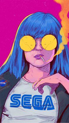 Arte Grunge, Grunge Art, Pop Art Drawing, Art Drawings, Arte Dope, Images Kawaii, Pop Art Wallpaper, Arte Cyberpunk, Animes Wallpapers
