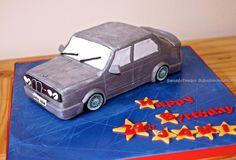 BMW car cake - by hayley @ CakesDecor.com - cake decorating website