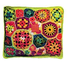 Vintage Crochet Pattern FreeForm Granny Squares by 2ndlookvintage, $3.00