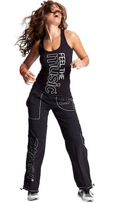 Zumba wear!  Comfortable and playful. Perfect for a sassy workout.