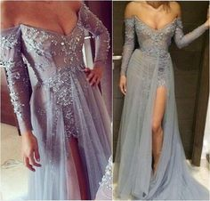 Pd12146 Charming Prom Dress,Off the Shoulder Prom Dress,A-Line Prom Dress,Appliques Prom Dress,Long-Sleeves Prom Dress