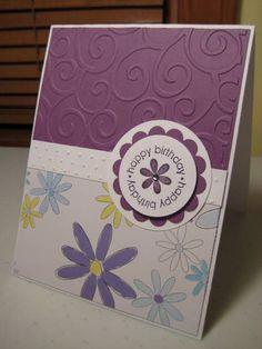 Stampin Up Happy Birthday Flower Swirls