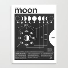 Phases of the Moon infographic Notebook (950 RUB) ❤ liked on Polyvore featuring home, home decor and stationery