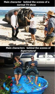 Haha. Lost vs. Supernatural. #Lost #Supernatural