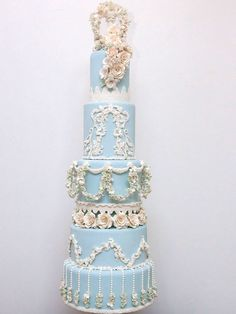 Cake by  Fine Cakes by Zehra  in Toronto, Ontario      From the designer:  This cake design is inspired by a truly iconic English brand: Wedgwood.