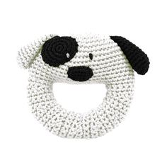Dog Knit Rattle  #oompatoys #dog