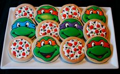Teenage Mutant Ninja Turtles Cookies by CaseysConfections on Etsy, $48.00