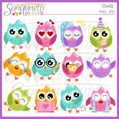 Owl Clipart owl clip art cute owl clipart by SanqunettiDesigns Zoo Clipart, Emoji Clipart, Bird Clipart, Cute Emoji, Cute Birds, Cute Owl, Owl Clip Art, Owl Print, Cloud