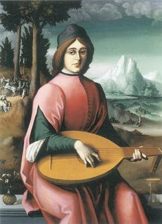 Francesco d'Ubertino Verdi (Il Bacchiacca), Portrait of a Young Man with a Lute, c. 1525-9
