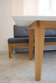Corian & Oak Dining table