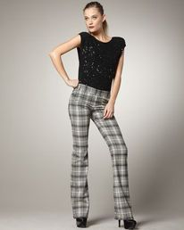 Plaid pants. Can you get away with them this fall? #fashion #women