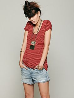 We the Free Retro Stripe Tee by Free People @Luvocracy |