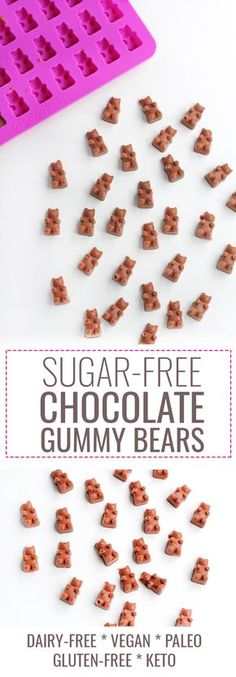 This sugar-free chocolate gummy bears recipe only takes 4 ingredients and 5 minutes to prep! It's a delicious way to satisfy your sweet tooth!
