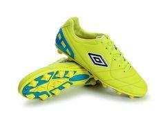 Umbro Cup AG Football Boots Fluorescent Green Blue Black