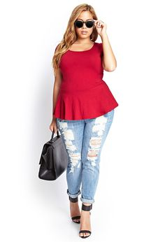 Sweetheart Peplum Top #F21Plus