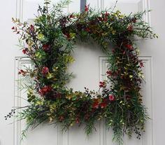 Boxwood Square Wreath Boxwood Wreath Birch by TheTangledTreehouse