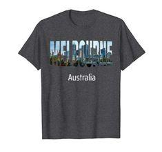 Melbourne Australia T-Shirt Melbourne Australia, Australia Travel, Most Beautiful Cities, Best Cities, Branded T Shirts, Fashion Brands, Amazon, Mens Tops, Amazons