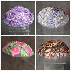 7 Ideas for Bat Mitzvah & Jewish Wedding Yarmulkes - Embroidered Applique Kippot by Queen Esther Hair Covers - mazelmoments.com