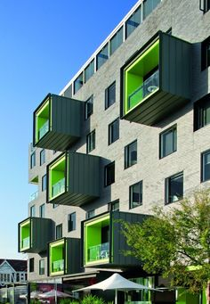 The Cullen by Jackson Clements Burrows Architects - amazing cantilevered and colourful balcony boxes