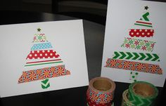 Easy Washi Paper Tape Christmas Cards