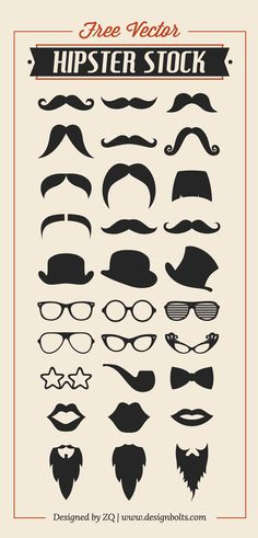 Free-Vector-Hipster-Stock-Mustache-Beard-Charlie-Hat--RayBan-Glasses