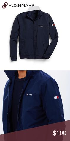 Tommy Hilfiger yacht jacket Brand new Navy blue Tommy jacket for men or women . Feel free to make offers Tommy Hilfiger Jackets & Coats Bomber & Varsity
