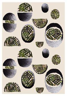 flora-maclean: Repeat print on silk