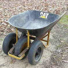 A three-wheeled wheelbarrow is virtually tip-proof and can make work around the farm and yard easier.