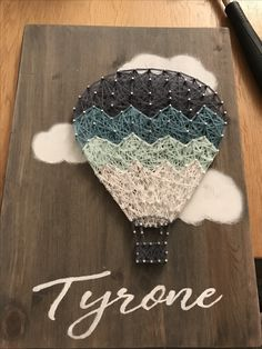 Hot air balloon string art. My first attempt