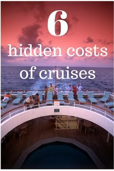 6 hidden costs of cruises