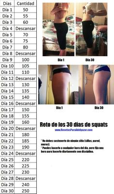 Reto de 30 días de squats para muslos y glúteos firmes   Recetas para adelgazar: