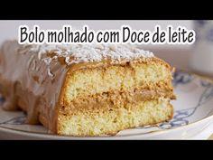 BOLO MOLHADO DE COCO COM DOCE DE LEITE I Receitas e Temperos - YouTube