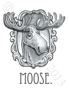 moose drawing - Google Search