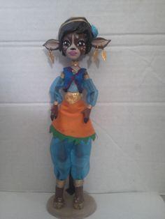Handmade OOAK Custom Monster High doll- Fawn (deer girl from 13 Wishes)