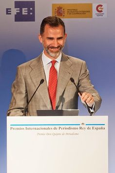 Spanish King Felipe VI attends 'Rey de Espana' and 'Don Quijote' Journalism Awards 2015 on 07.05.2015 in Madrid, Spain