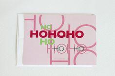Christmas Postcards Modern Christmas Typography by aciskedesign