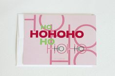 Christmas Postcards Modern Christmas Typography by aciskedesign