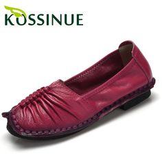 9008674d4 Купить товар 2016 женщин обувь из натуральной кожи мелкой рот плоские туфли  удобную обувь ручной работы
