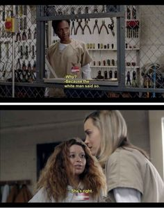 "When Janae is trying to point things out to a certain oblivious protagonist... | 25 Moments When The Women Of Color On ""Orange Is The New Black"" Gave You So Much Life"