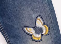 67dca317 Embroidered Jeans, Jean Shorts, Coin Purse, Kids Pants, Underwear,  Butterflies,