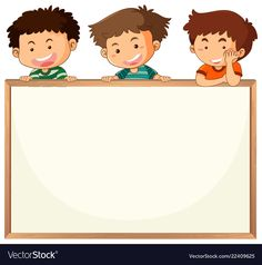 Children on whiteboard template vector image on VectorStock Background For Powerpoint Presentation, Background Powerpoint, Valentines Day Border, Teacher Cartoon, Teacher Classroom Decorations, School Frame, Poster Background Design, Fabric Stamping, Clipart