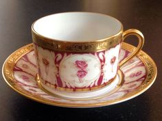 Haviland Parlon Limoges Rose D'or Golden Roses Tea Cup Saucer List $837 | eBay