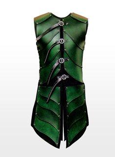 Elven Warrior Leather Armour green - maskworld.com