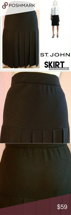 Selling this ST JOHN black knit sz4 skirt on Poshmark! My username is: hollywouldwear. #shopmycloset #poshmark #fashion #shopping #style #forsale #ST. JOHN BASICS #Dresses & Skirts
