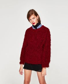Image 2 of OVERSIZE FURRY SWEATER from Zara
